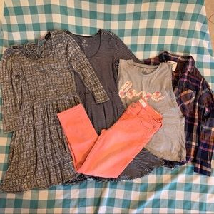 Lot of Girl's Clothes size M Dresses, Tops, Jeans
